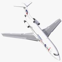 boeing 727-100 air france 3d model