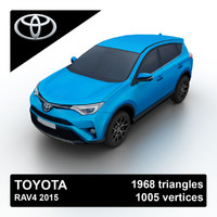 2015 toyota rav4 3d model