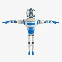 robot humanoid 3d max