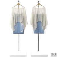 3d woman clothes hanger model