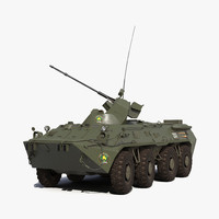 amphibious armoured personnel carrier 3d model