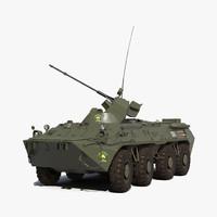 amphibious armoured personnel carrier 3d model