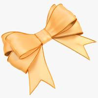 3d model beige bow