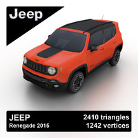 3d model 2015 jeep renegade