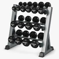 3d weight rack model