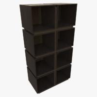 modern bookcase obj
