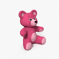 teddy bear plush 3d model