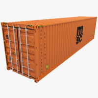 mediterranean shipping container msc 3d model