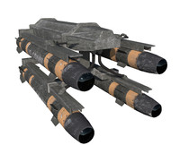 hellfire missile launcher 3d model