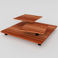 3ds pbr uv-textured wheeled table
