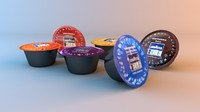 3d lavazza blue coffee pods