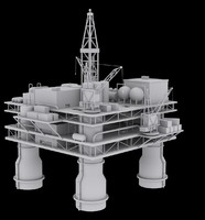 Oil Platform Low Poly