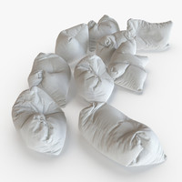 3d giant floor pillows model