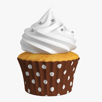3d cupcake cake cup model