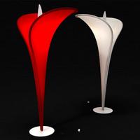 3d model arum flor lamp lucente