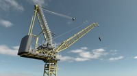 buildings site tower crane 3d x