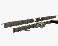 modular trench 3d model