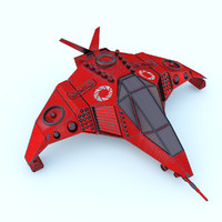 sci-fi space ship 3ds