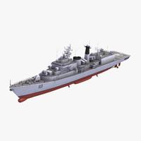 3d type052 luhu class destroyer model