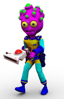 alien cartoon 3d model
