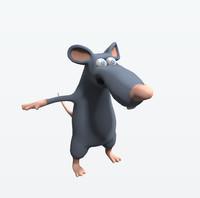 3d model cartoon character rat
