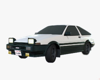 polygonal trueno lod 3d model