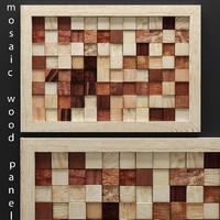 mosaic wood panel 3d 3ds