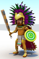 Aztec Cartoon Character