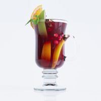 3d glass mulled wine model