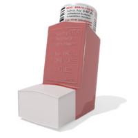 3d model asthma inhaler