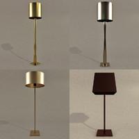 modern floor lamp 3d model