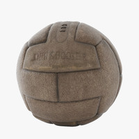 soccer vintage leather ball 3d model
