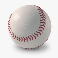 new baseball logo 3d model