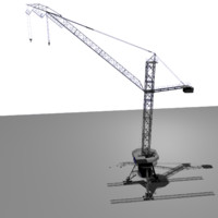 free tower crane bk-1000 3d model