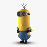 3d tall eyed minion pose