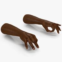max african man hands fur