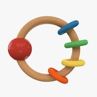 rattle toy 3d 3ds