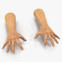 man hands 2 fur 3d model