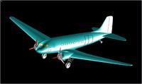 3d douglas c-47 transport aircraft