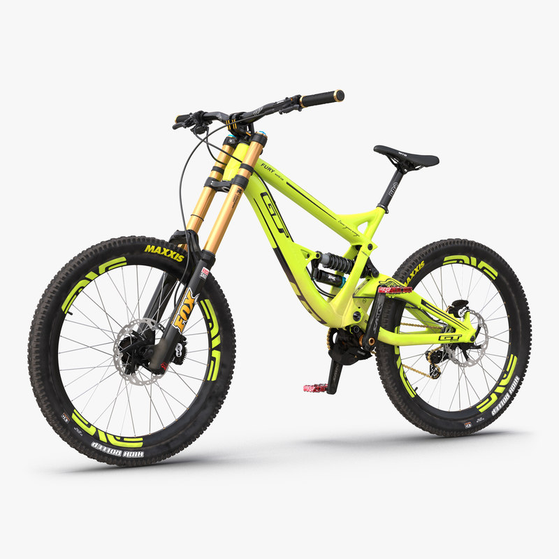 Mountain Bike GT Fury Green 3d model 000.jpg