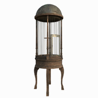 old birdcage 3d x