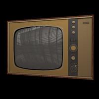 3d old tv model
