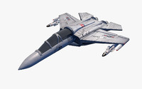 3d model war jet fighter