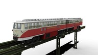 3d monorail trolley model