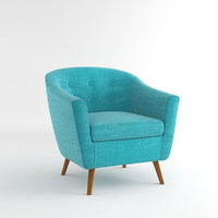 3d rockwell accent chair model