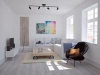 scandinavian livingroom 3d model