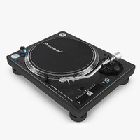 3d model realistic pioneer plx-1000