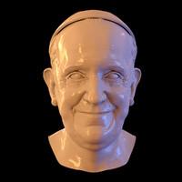 pope bergoglio 3d model