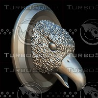 3d eagle head sculpture