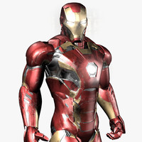 3d model iron man avengers mark